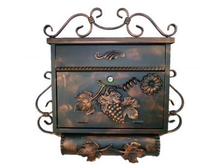 briefkasten mit zeitungsrolle antik edelstahl rostfrei schmiedeeisen. Black Bedroom Furniture Sets. Home Design Ideas