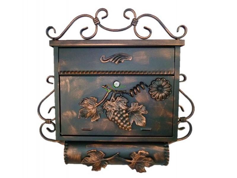 briefkasten mit zeitungsrolle antik edelstahl rostfrei. Black Bedroom Furniture Sets. Home Design Ideas