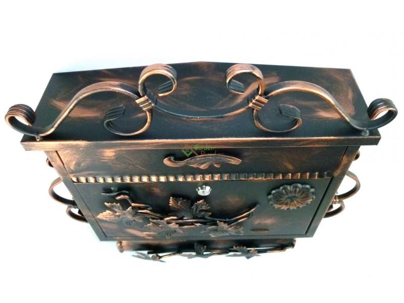 briefkasten postkasten mit zeitungsrolle briefk sten. Black Bedroom Furniture Sets. Home Design Ideas