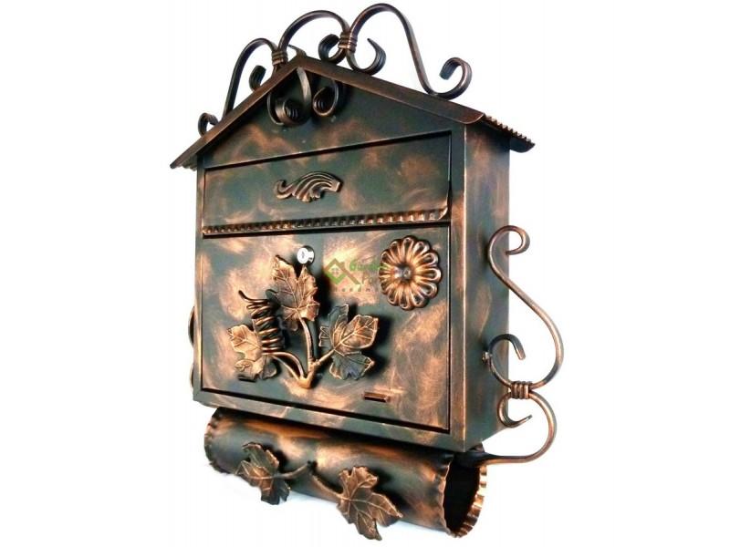 briefkasten mit zeitungsrolle antik. Black Bedroom Furniture Sets. Home Design Ideas