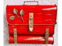Briefkasten mit Zeitungsrolle Rot Wandbriefkasten Postkasten Zeitungsbox